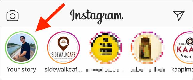 Ein grüner Kreis um ein Profilbild in Instagram.