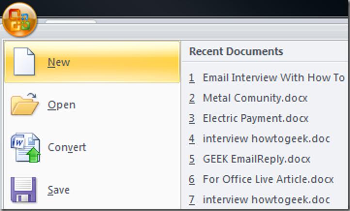 Halten Sie Ihre Office 2007-Dokumente auf einfache Weise griffbereit