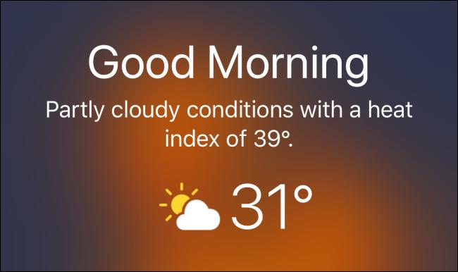 Wettervorhersage auf dem iPhone-Sperrbildschirm anzeigen