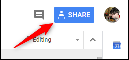 Google-Dokument teilen