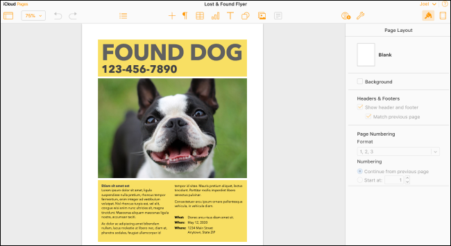 iWork Pages auf dem Mac