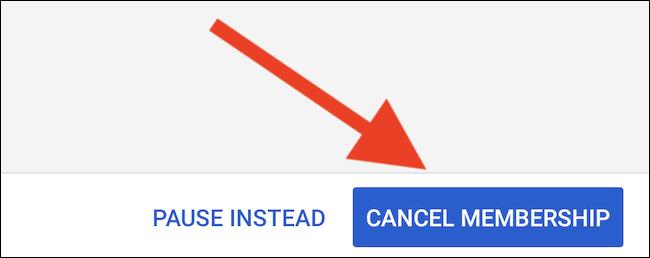 """YouTube TV listet auf, was du durch das Abbrechen versäumst.  Wähle aus """"Mitgliedschaft kündigen"""" Taste ein letztes Mal, um sich komplett abzumelden"""
