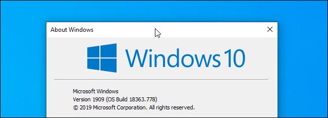 Klicken auf die Titelleiste eines Fensters unter Windows 10.