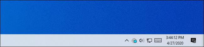Die Taskleistenuhr von Windows 10 zeigt Sekunden an