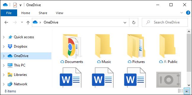 Der OneDrive-Seitenleistenordner im Datei-Explorer