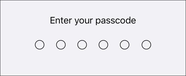 Geben Sie Ihren Passcode ein