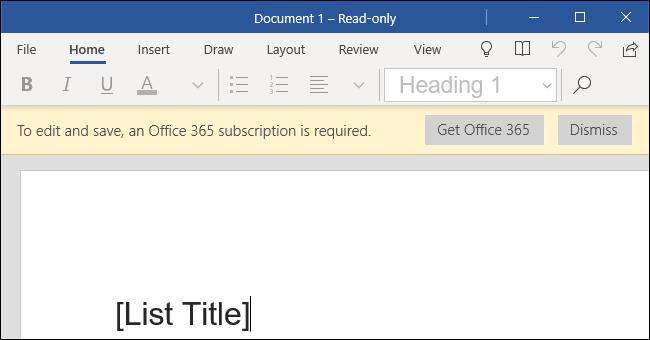 Word Mobile auf einem Windows 10-Desktop-PC