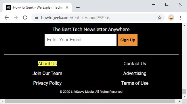 Deep-Linking zu Textfragmenten in Google Chrome 80
