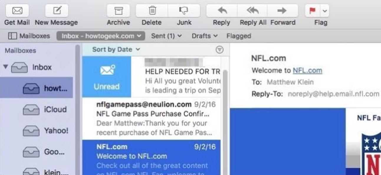 So deaktivieren Sie das Wischen von Nachrichten in Apple Mail für macOS