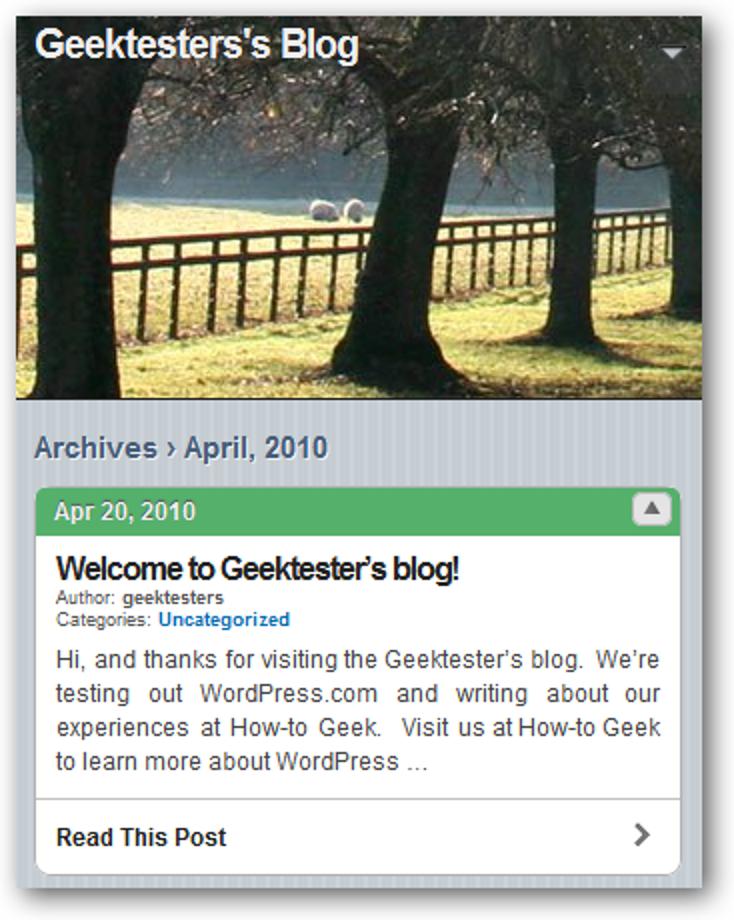 So erstellen Sie eine mobile Version Ihres WordPress-Blogs