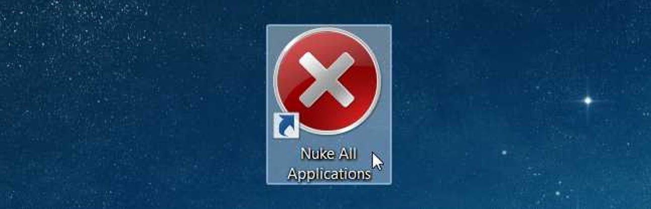So erstellen Sie eine Verknüpfung, die jede laufende Windows-App zerstört