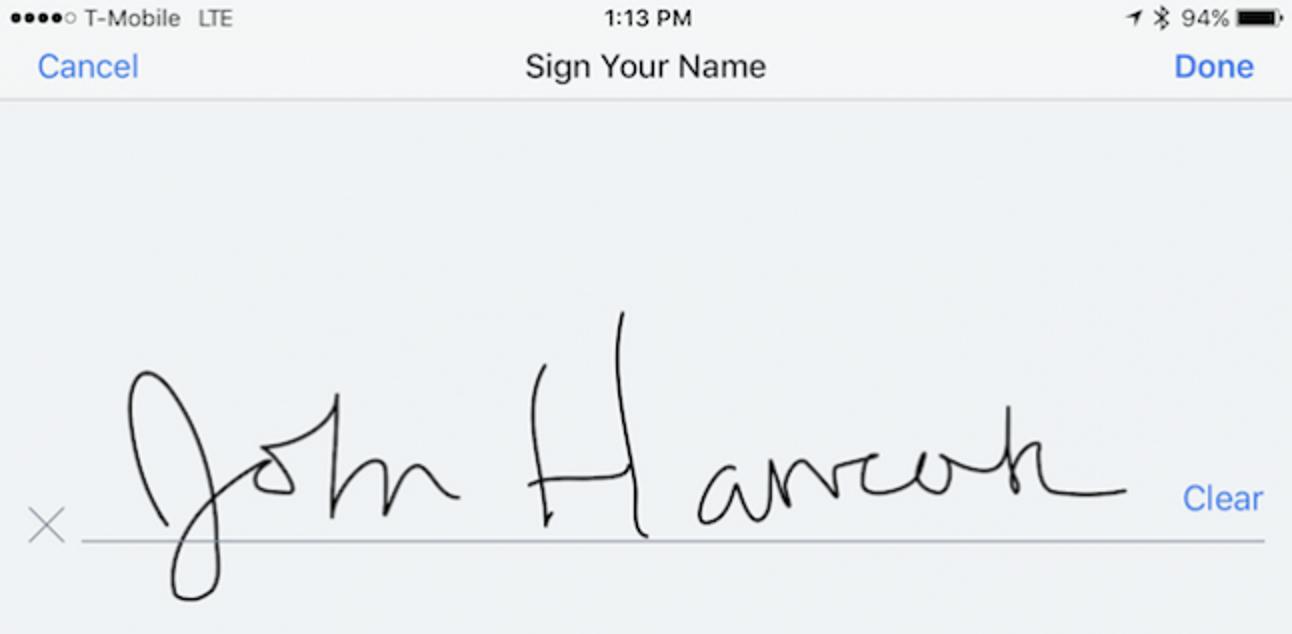 So signieren Sie PDFs aus Dropbox unter iOS