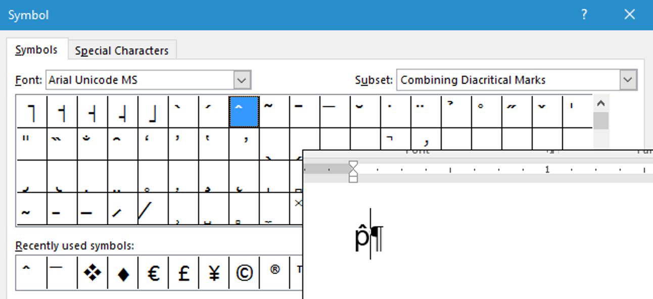 So erstellen Sie manuell zusammengesetzte Zeichen in Word