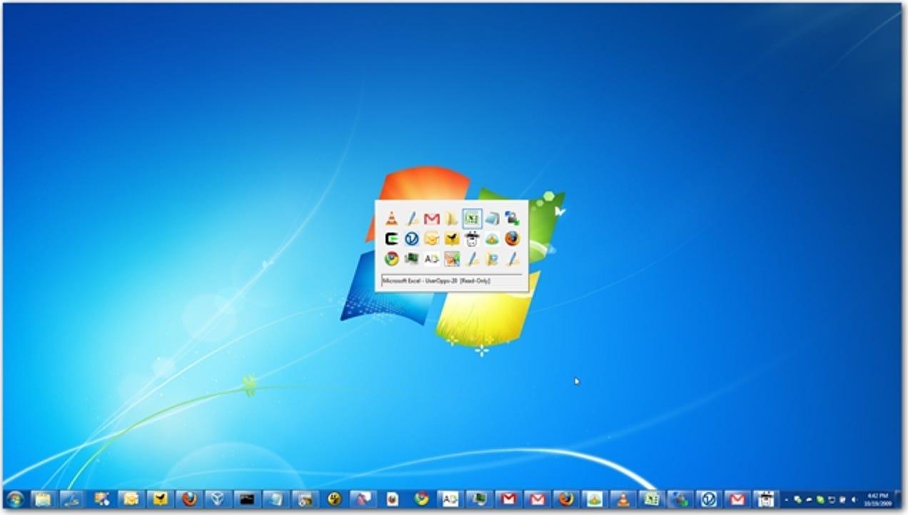 Windows 7 Easter Egg zeigt die XP Alt-Tab-Eingabeaufforderung an