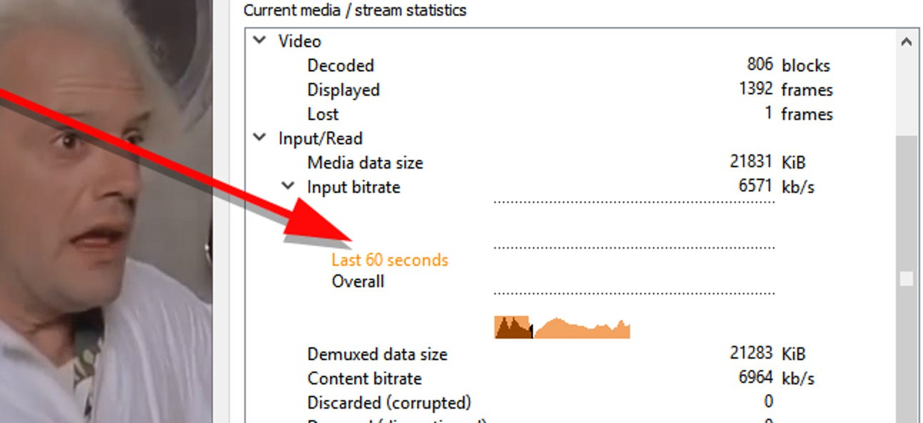 So überprüfen Sie die Bitrate eines Videos in VLC