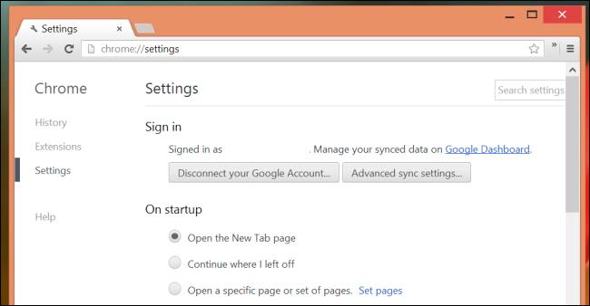 Chrome-Synchronisierungsoptionen