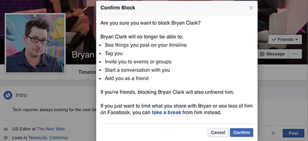 So blockieren Sie jemanden auf Facebook