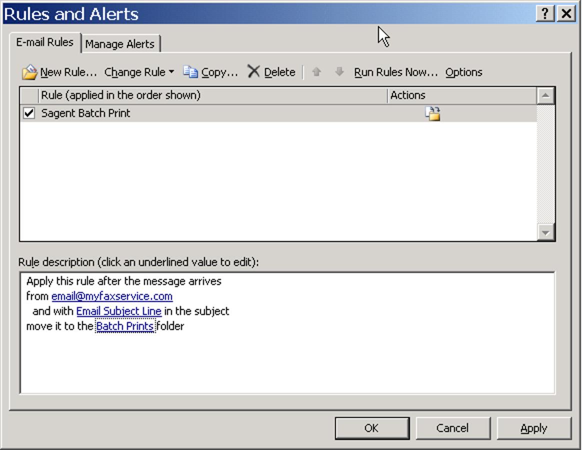 Batch-Druck von PDF-Anhängen in Outlook
