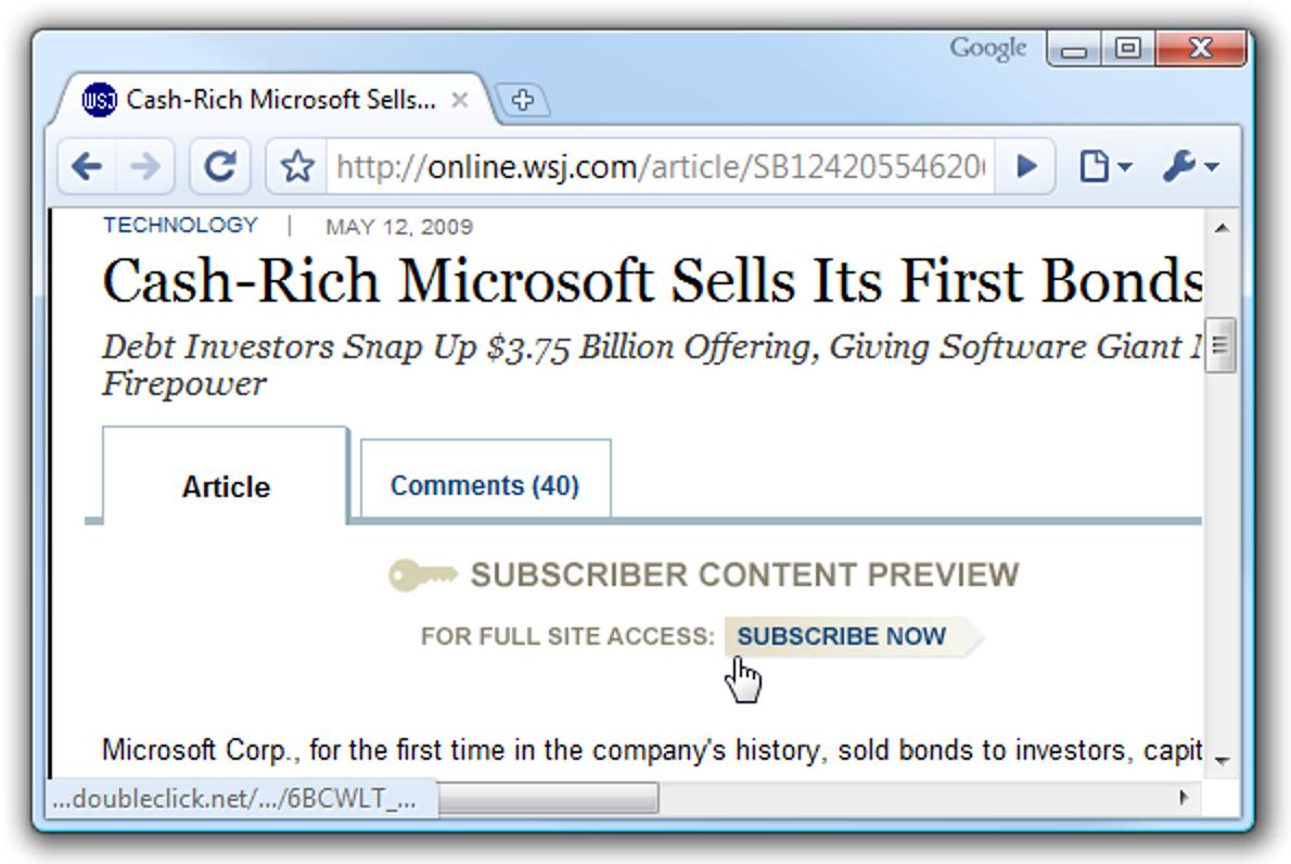 Lesen Sie Artikel aus dem Wall Street Journal, ohne einen Cent zu bezahlen (legal)