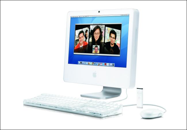 Ein Apple iMac von Anfang 2006 mit einer Intel-CPU.