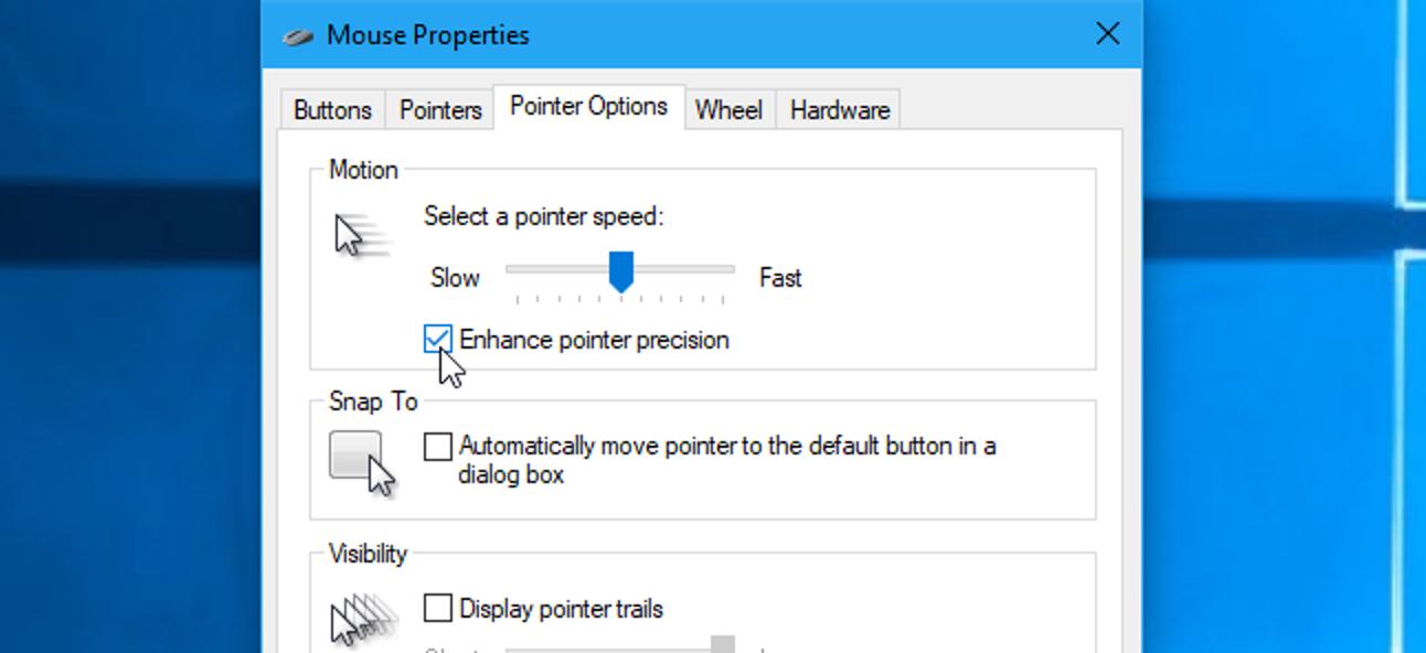 """Was ist """"Zeigerpräzision verbessern"""" in Windows?"""