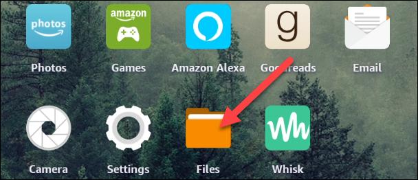 """Öffne das """"Dateien"""" App vom Startbildschirm aus."""