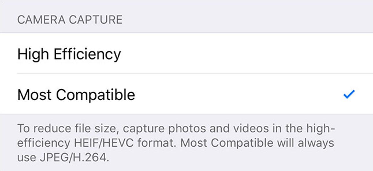 So verwenden Sie auf Ihrem iPhone JPG- und MP4-Dateien anstelle von HEIF, HEIC und HEVC