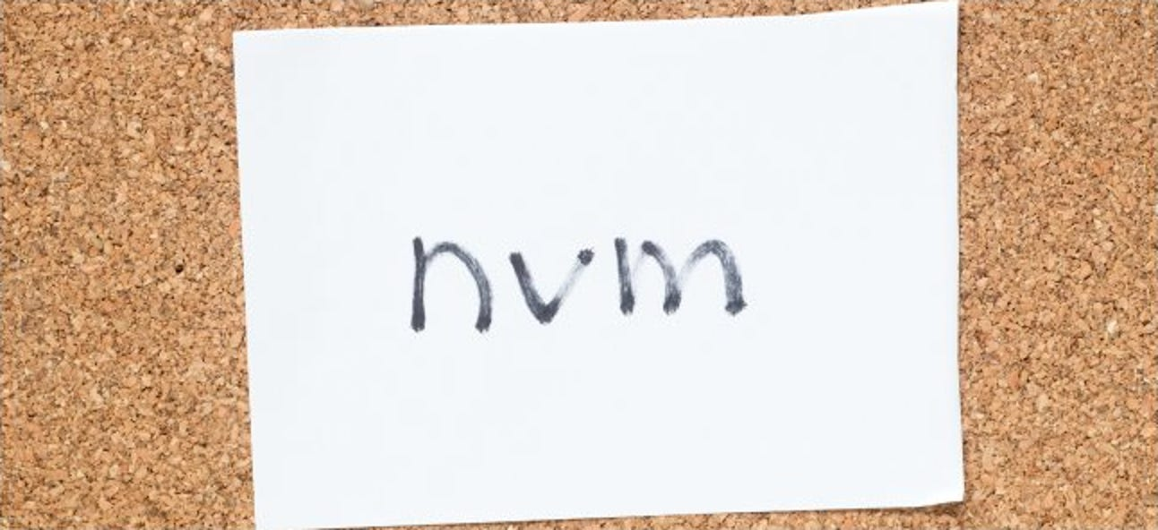 """Was bedeutet """"NVM"""" und wie wird es verwendet?"""