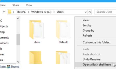 So starten Sie schnell eine Bash-Shell aus dem Datei-Explorer von Windows 10