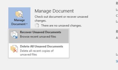 So stellen Sie eine nicht gespeicherte Microsoft Office-Datei wieder her