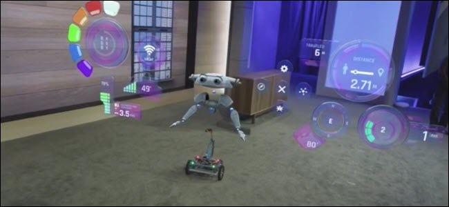 Ein Raspberry Pi-betriebener Windows IOT-Roboter mit Hologrammen