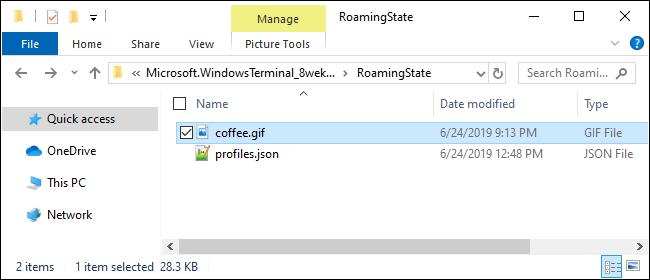 Bereitstellung eines Hintergrundbilds für das Windows-Terminal
