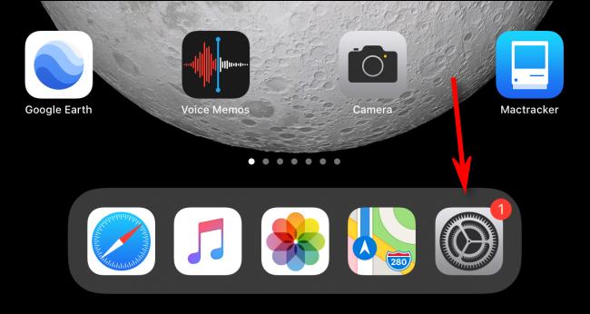 Starten Sie die Einstellungs-App auf einem iPad