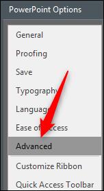 erweiterte PowerPoint-Optionen