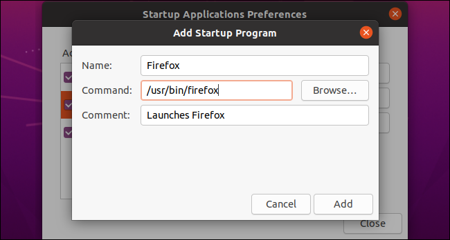 Hinzufügen eines benutzerdefinierten Startprogramms unter Ubuntu.
