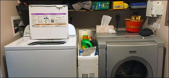 Waschmaschine und Trockner an Smart Plugs angeschlossen