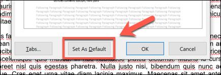 """Drücke den """"Als Standard festlegen"""" Option am unteren Rand des Fensters, um Ihre Änderungen auf das gesamte Dokument oder auf alle zukünftigen Dokumente anzuwenden."""