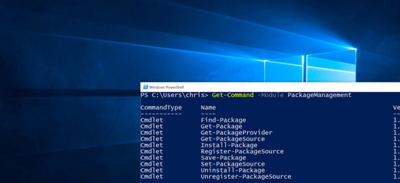 So verwenden Sie PackageManagement (auch bekannt als OneGet) unter Windows 10