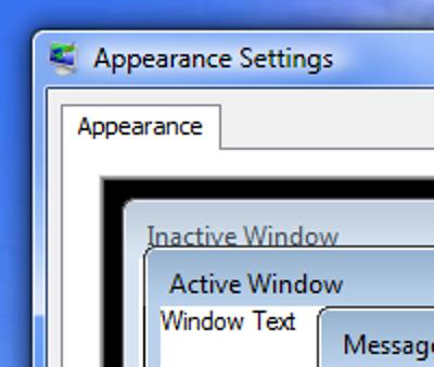 Trimmen Sie die aufgeblähten Fensterränder von Windows Vista