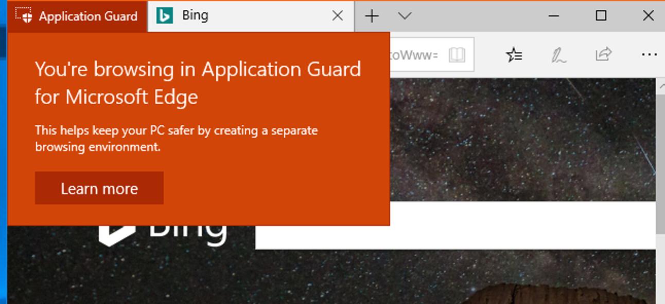So aktivieren Sie Windows Defender Application Guard für Microsoft Edge