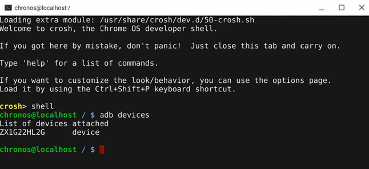 So verwenden Sie ADB und Fastboot auf einem Chromebook