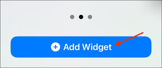 "Tippen ""Widget hinzufügen."""