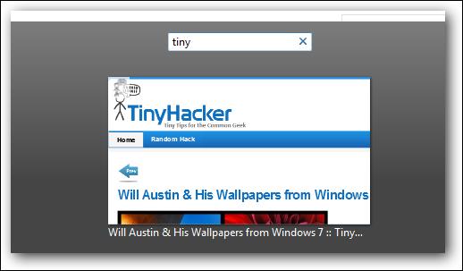 Firefox Strg+Umschalt+Tab Filter