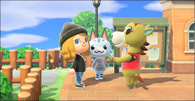 """Drei Zeichen in """"Animal Crossing: Neue Horizonte."""""""