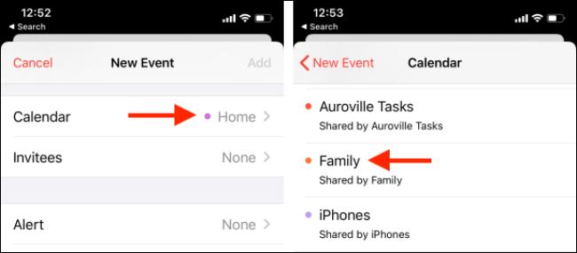 Kalender über die Kalender-App wechseln