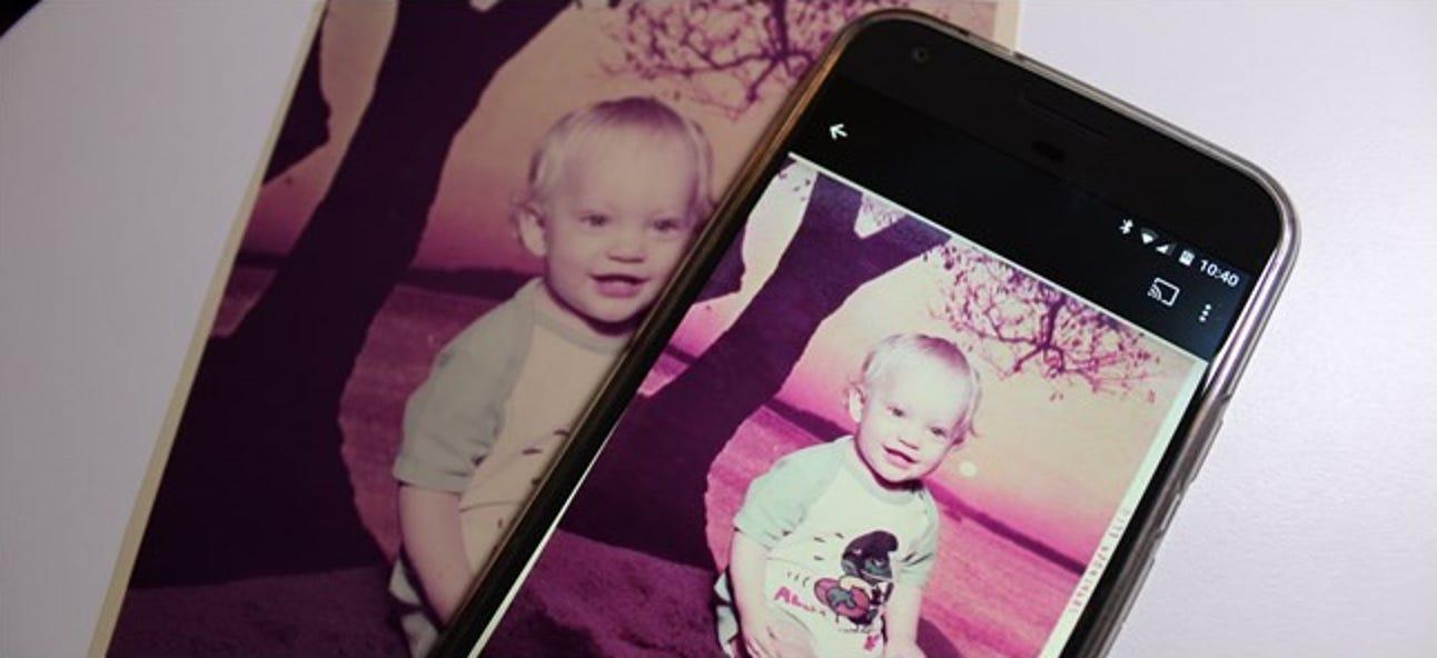 So digitalisieren Sie alte Fotos mit Ihrem Smartphone