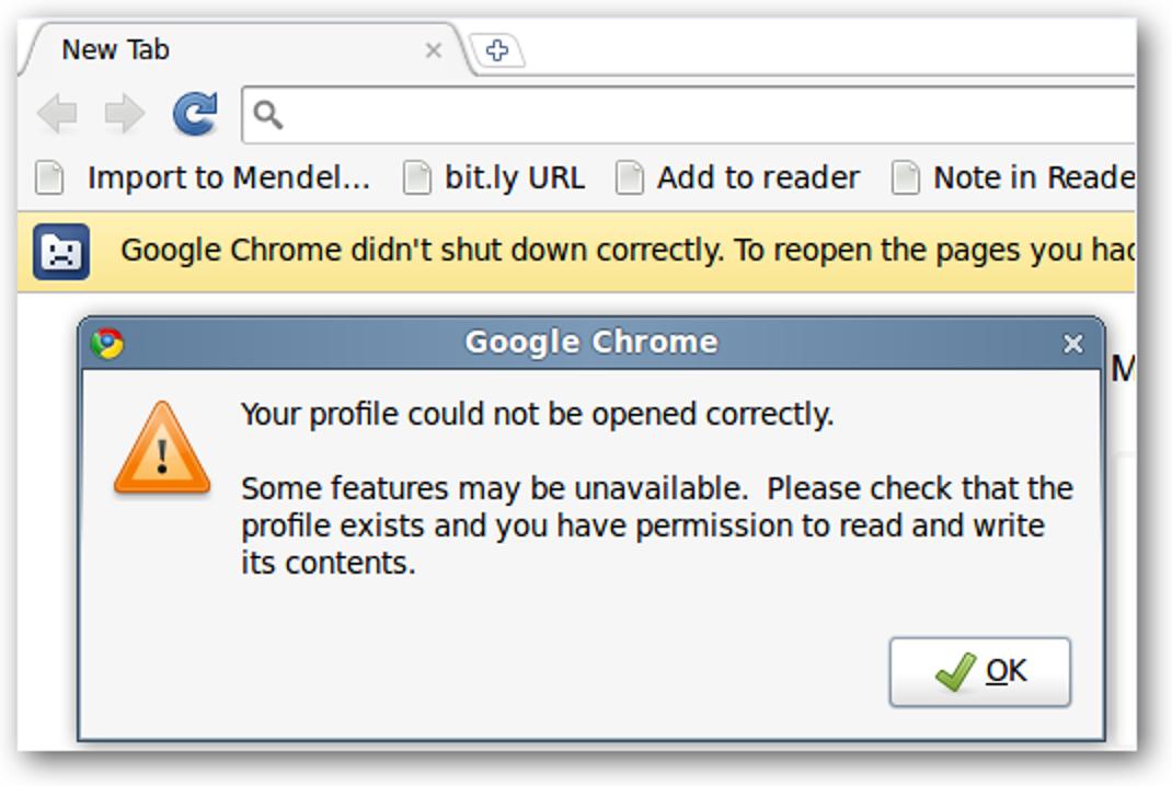 Stellen Sie den größten Teil Ihres Google Chrome-Profils nach einem Absturz unter Linux wieder her