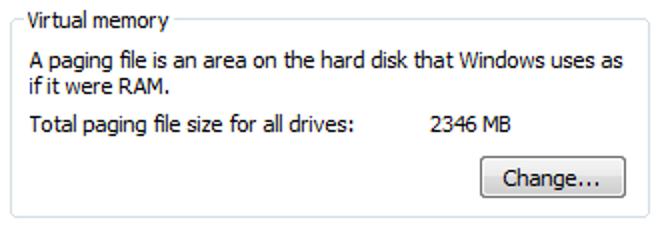 Grundlegendes zur Größe der Windows Vista-Auslagerungsdatei
