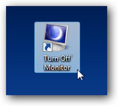 Erstellen Sie eine Verknüpfung oder einen Hotkey, um den Monitor auszuschalten