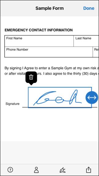 Platzieren Sie Ihre Unterschrift und passen Sie die Größe an das Dokument an